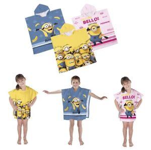 Poncho Beach Towel Pool Towels Minion Despicable ME Cotton Girls Boys  60 x 120