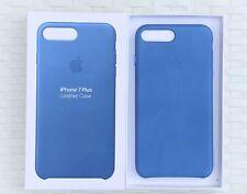 New Genuine Apple iPhone 8 Plus or iPhone 7 Plus Leather Case - Sea Blue
