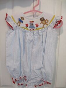 Girls Smocked Jump Suit size 6 months by STELLYBELLY
