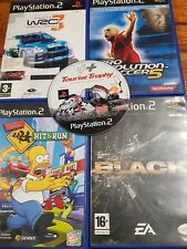 PS2 lote simpsons hit and run WRC 3 black Tourist Trophy Pro Evolution Soccer 5