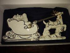 """Mikasa Santa Sleigh Ceramic """"Holiday Elegance"""""""