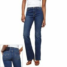Levi's 512 Size 18S Day Light Blue MidRise Perfectly Slimming Bootcut Denim Jean