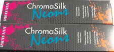 Pravana Chroma Silk vivids Neon Pink  2 Tubes Vibrant Direct Dye Hair color