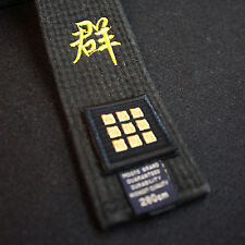 Taekwondo Belt Dan Embroidery Patches 2pcs Set Lot MMA TKD Rank Player 1st ~ 9th