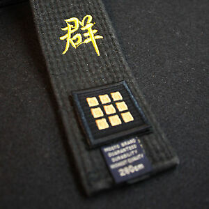 Taekwondo Belt Dan Embroidery Patches 2pcs Set Lot MMA TKD Rank Player 1st ~ 9th