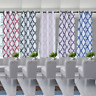 2 PANELS GROMMET BLACKOUT BACKING WINDOW CURTAIN DRAPE GEOMETRIC PRINT 2-TONE