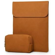 HYZUO 15 Inch Laptop Sleeve Protective Case MacBook Pro 15 Faux Suede Brown
