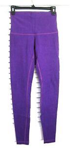 RARE Lululemon Wunder Under High Rise Cotton Heathered Tender Violet Purple sz 6