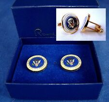 "Rare ""Fully Enameled""  President Ronald Reagan '88 Cufflinks - Presidential Seal"