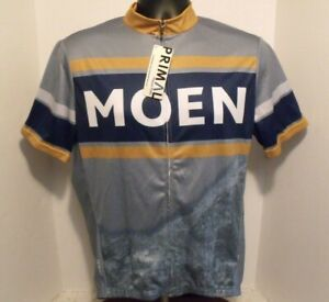 Primal Happy Trails MOEN Team Cycling Jersey S/S Full Zip Shirt Men's LG NEW TAG