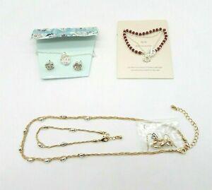 Avon Nature Jewelry Bundle Rose Silver Sun Necklaces Bracelets & Earrings New