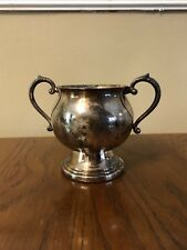 Sheridan Sugar Bowl Silver on Copper with Handles