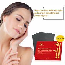 90pcs/bag Bamboo Charcoal Oil Blotting Sheets Facial Oil Control Paper CA