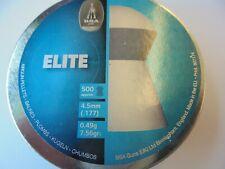 BSA Elite .177 4.5 mm  0.49g - 7.56gr  2 tins of 500.(1000 pellets total)