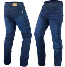 NEW MENS POWER STONE WASHED DENIM JEANS REINFORCED  WITH DuPont™ KEVLAR® BLUE