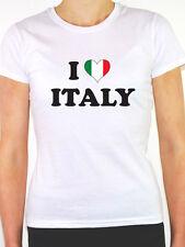 I LOVE ITALY - Italian / Europe / European / Novelty Themed Womens T-Shirt