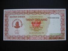 ZIMBABWE  20000 Dollars 2003  (P23)  UNC