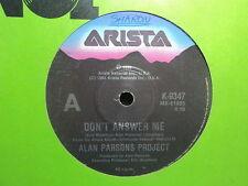"Alan Parsons Project ""Don't Answer Me"" Terrific Oz 7"""