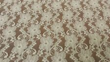 """F139 New Cream Floral  Lace Fabric Material 59"""""""
