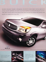 2003 Buick Rendezvous Original Sales Brochure Sheet