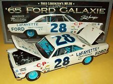 Fred Lorenzen 1965 Lafayette Ford #28 Galaxie Signed Autograph 1/24 Legends New