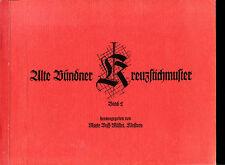 Kreuzstichmuster--Alte Bündner Kreuzstichmuster--Band 2--6.Auflage-Buff Müller