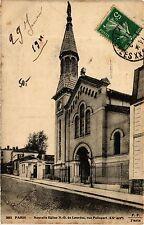 CPA PARIS 20e Nouvelle Eglise N.-D. de Lourdes, rue Pelleport (254850)