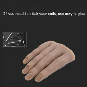 Silicone Fake Hand Model Nails Art Practice Mannequin High Simulation U S