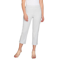NEW Isaac Mizrahi Live! Womens Capri Pants Slacks 12P Petite White Pull On 12