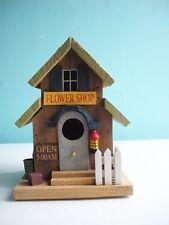 Wood Flower Shop themed Birdhouse