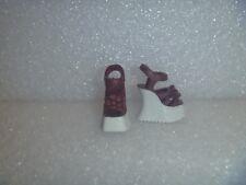 Barbie Shoes - Two Tone 70's Style Wedge Platform Heel Sandal