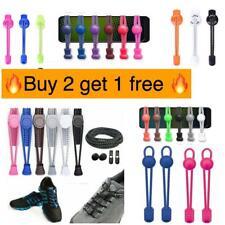No Tie Shoelaces Elastic Lock Running Jogging Canvas Sneakers Trainer
