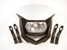 Universal Lampenmaske Scheinwerfer Weiß Suzuki DR 125 DR 250 DR 350 **NEU**