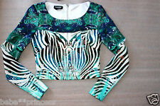 NWT bebe white green floral cutout animal print sexy party dress top S small 4