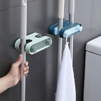 Wall Mounted Mop Organizer Holder Brush Broom Hanger Home Storage Rack Suction