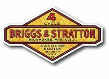 "Gold Foil Look Vintage Briggs & Stratton Gasoline Oil Gas 5"" X 3"" sticker decal"
