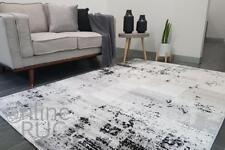 GREY FLOOR RUG TILE ABSTRACT PATTERN MONOCHROME MODERN SOFT CARPET 160 x 230 CM