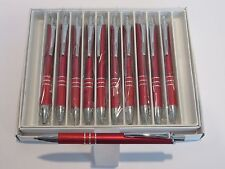 LOT OF 10 RED TERZETTI SLEEK BALLPOINT PEN W/ SURE GRIP-BUY MORE AND SAVE DEAL