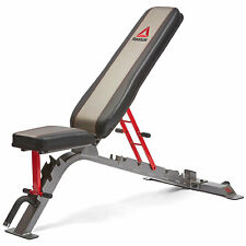 Reebok RBBE-10222 Home Gym Dual Adjustable Workout Weight Training Utility Bench