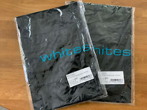 Whites Chefs Clothing Black Bistro Apron 750x373mm X 2 Sets