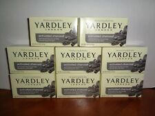Lot of 8 Bars Yardley London Activated Charcoal Moisturizing Bath Soap 4.25oz Ea