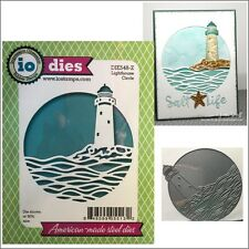 Lighthouse Circle metal die - Impression Obsession cutting dies DIE548-Z beach