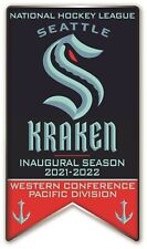 "Seattle Kraken "" Inaugurale Saison "" Broche NHL Hockey 2 "" Banner Style Métal"