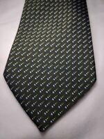 Recent Giorgio Armani 100% Silk Tie Made In Italy Green Twill