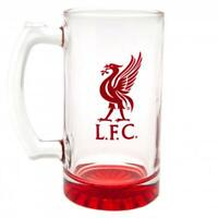 Official LIVERPOOL FC Stein Glass Tankard Birthday Christmas Fathers  LFC Gift