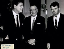 JOHN F KENNEDY JFK ROBERT RFK J EDGAR HOOVER  8 X 10 PHOTO 2