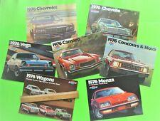 7 Diff 1976 CHEVROLET CATALOGS Brochures 88-pgs CAMARO Impala CHEVELLE Vega NOVA