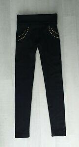 HOLLYWOOD Leggings Jegging Hose Pant warm Damenhose schwarz Größe S M 34 Maße 👀