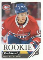 2018-19 Parkhurst Hockey #360 Jesperi Kotkaniemi RC Montreal Canadiens