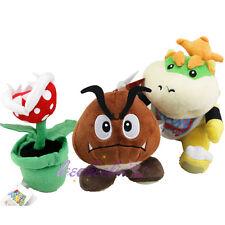 "Super Mario Bros 7"" Koopa Jr. Bowser & Piranha Plant &5"" Goomba Plush Doll Toy"